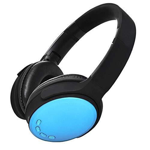 KK Timo Auriculares inalámbricos sobre la oreja, estéreo, Bluetooth, ligeros, para viajes, trabajo, TV, PC (color azul)