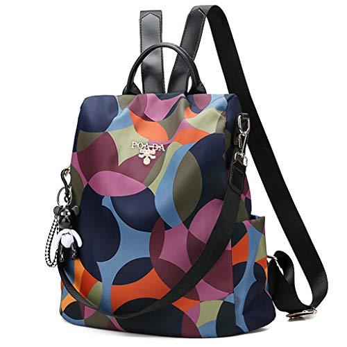 XIANSHI Mochila feminina antifurto de nylon antirroubo, mochila grande casual, mochila escolar moderna e prática para meninos e meninas
