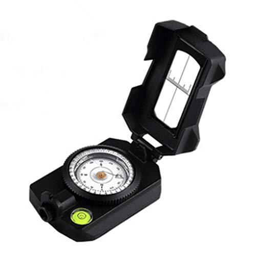 WXJY Survival-Kompass mit Lanyard und Pouch - wasserdicht und stoßfest, hohen Genauigkeit Wasserwaage Anvisieren Clinometer Kompass - für Camping, Backpacking, Bootfahren
