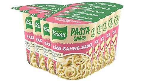 Knorr Snack Bar Spaghetti mit Käse Sahne Sauce, 8er Pack (8 x 71 g)