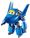Alpha Animation & Toys Super Wings YW710230 Transforming Jerome Flugzeug, color negro, azul , color/modelo surtido