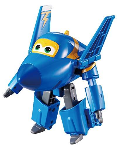 Alpha Animation & Toys Super Wings YW710230 Transforming Jerome Flugzeug, color negro, azul , color/modelo surtido