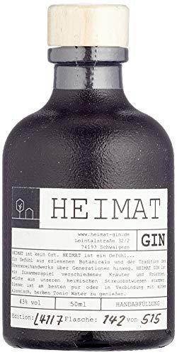 HEIMAT Dry Gin Miniatur 50ml (1 x 0.05 l) Mini zum Probieren