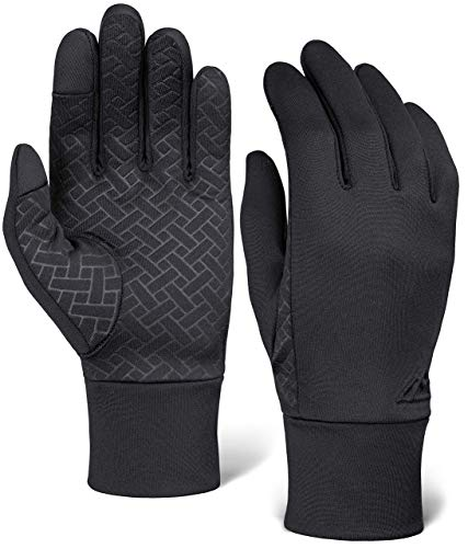 Touch Screen Running Gloves for Men & Women - Thermal Winter Glove Liners for Running, Texting, Cycling & Driving - Thin, Lightweight & Warm Sports Hand Gloves - Touchscreen Smartphone Compatible
