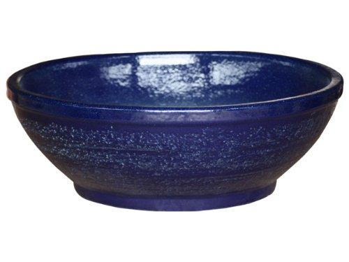 K & K Pot Bol plat, 110.0 x 26.0 cm, bleu, en céramique de frostbeständiger Grès