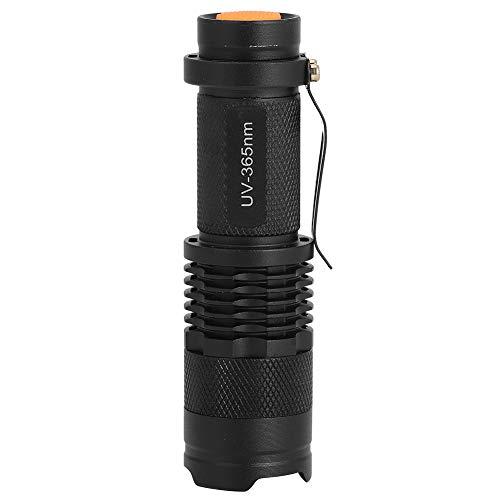 Linterna LED portátil portátil impermeable linterna ultravioleta antorcha eléctrica luz de detección fluorescente 365NM para la pesca nocturna impermeable al aire libre camping emergencia