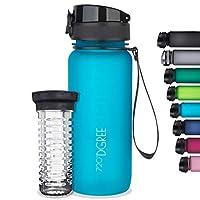 """720°DGREE Trinkflasche """"uberBottle"""" - 650 ml, 0,65 l, Blau - Neuartige Tritan Wasser-Flasche - Water Bottle BPA Frei - Ideale Sportflasche für Kinder, Fitness, Fahrrad, Sport, Fussball"""