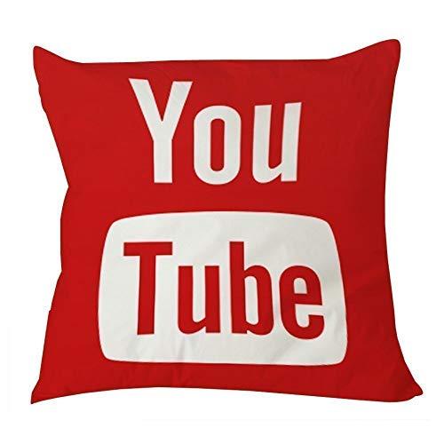 okstore1988 Funda de Almohada para Medios sociales de Youtube Icon (20x20 un Lado)