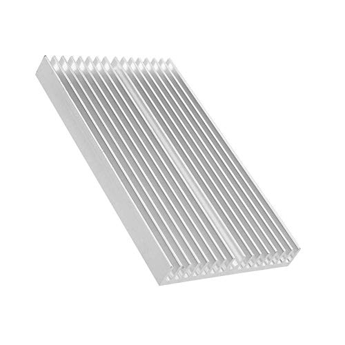 RONGW JKUNYU Computer Accessories, Aluminum 100 60 10mm PCB Heatsink Cooler Radiator for DLP UV 3D Printer LED Electronic Integrated Circuit (Color : Silver)