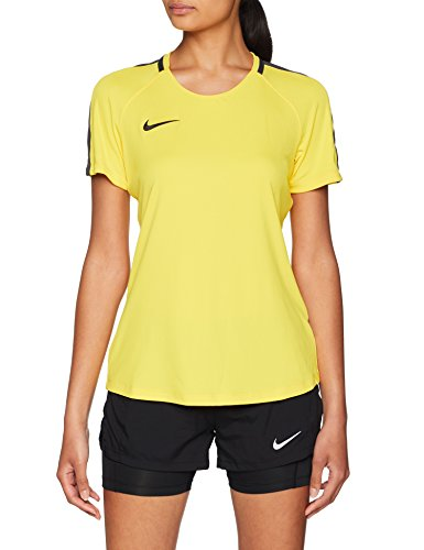 NIKE W NK Dry Acdmy18 Top SS T-Shirt, Hombre, Tour Yellow/Anthracite/Black, M