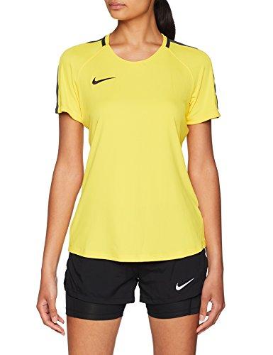 Nike W Nk Dry Acdmy18 Top SS Camiseta de Manga Corta, Mujer, Tour Yellow/Anthracite/(Black), M