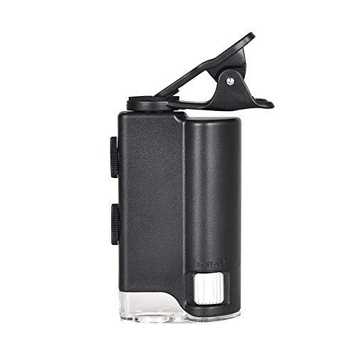 XIAN Handy Lupe, Mikroskop, Zoom Hd Tragbare Fotolupe Zu Sehen Milben Haut Externe Hundert Mal Objektiv - Schwarz