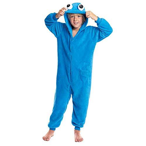 Pijamas Enteros de Animales Nias y Nios UnisexTallas Infantiles 3 a 12 aos Disfraz Monstruo Azul Mono Enterizo Carnaval FiestasTalla 7-9 aos