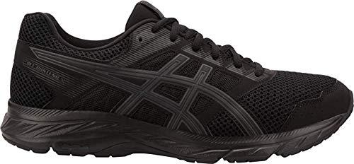 ASICS Men's Gel-Contend 5 Running Shoes, 10.5XW, Black/Dark Grey
