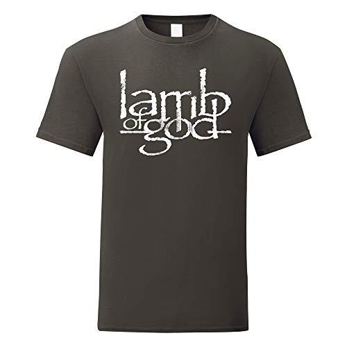 Heren T-shirt Lamb Of God Logo White Print - Maglietta metal band 100% cotone LaMAGLIERIA