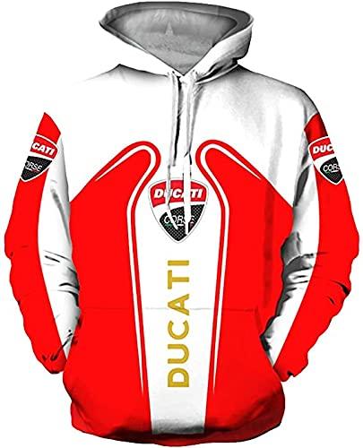 Alta gama personalizar Du-c.ati 3D logo impresión digital suéter camisas moda deportes sudaderas otoño invierno manga larga sudadera con capucha para hombres mujeres S a 5XL ropa ropa
