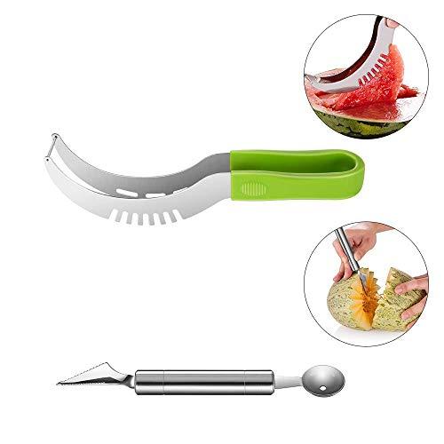 2in1-pastèques SCHNEIDER et servierzange en acier inoxydable