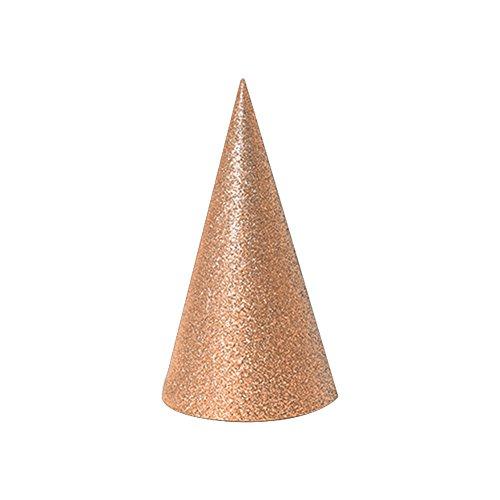 Fablcrew Birthday cap Bronze Gold Dreieckige Kappe Baby Geburtstag Hut Monochrome Flash Geburtstag Hut Partyzubehör Geburtstag Hut
