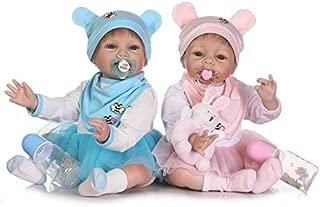 Zero Pam Realistic Twin Dolls Lifelike Twin Reborn Babies Toddlers Realistic Reborns Baby Dolls 2 pcs