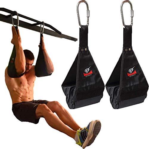 Premium Bauchmuskelschlaufen Ab Straps Slings Armschlaufen Bauchtraining Klimmzugstange Bauchtrainer Fitness für Tür Reck und Turnstange