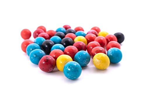 Berry Blast Dubble Bubble Gumballs - 1 LB Resealable Stand Up Candy Bag (approx. 60 pieces) - 1 Inch Gumballs in Assorted Fruit Flavors: Strawberry, Blueberry, Raspberry, Blackberry - Vending Machine