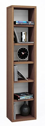 VCM Regal DVD CD Rack Möbel Aufbewahrung Holzregal Standregal Möbel Anbauprogramm Eiche-rustikal 92x21x20 cm