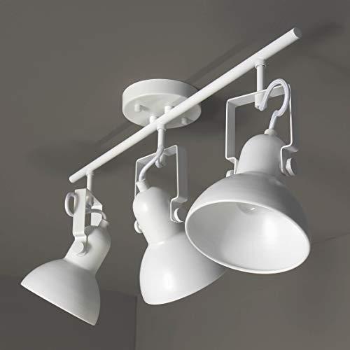 Spot wit metaal 3 lichts 56cm lang retro design verstelbare E14 plafondlamp woonkamer hal