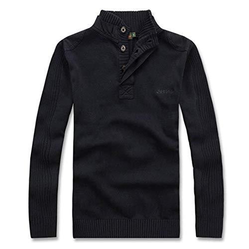 TOSISZ mannen warme trui trui jas coltrui paars zwart leger groene winter wol primer shirt slank