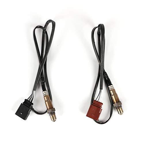 LUOERPI Sensor de oxígeno Sensor de O2 Delantero Trasero, para Jetta, 06A906262Q 06A906262F