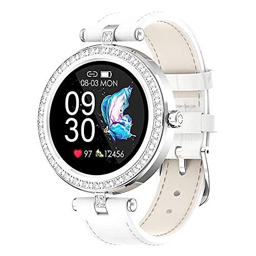 ZGZYL Reloj Inteligente De Moda De Las Señoras S28, Reloj Deportivo con Presión Arterial Y Monitor De Frecuencia Cardíaca, Monitoreo De Menstruación Bluetooth Smart Watch para iOS Android,D