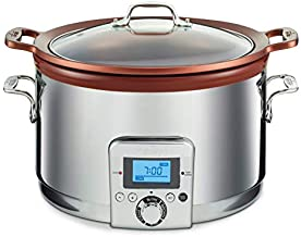 All-Clad Gourmet Slow Cooker, 5 quarts, Silver,SD492D50