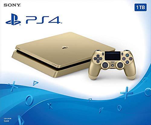PlayStation 4 (PS4) - Consola De 500 GB, Color Dorado + 2 Mandos Inalámbricos DualShock 4 [Importación Alemana]
