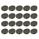 Healifty - 30 botones de metal redondos planos, diseño de botones, para manualidades, 20 mm, color dorado, gris, 1520B39NS0BGNH3H8ZHF8I7Y3