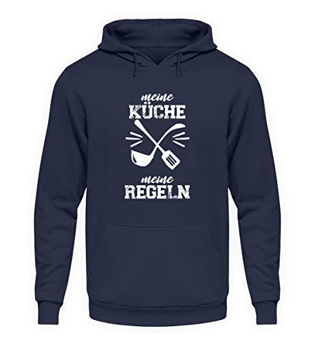Chefkoch Küche Meine Küche Meine Regeln - Unisex Kapuzenpullover Hoodie -4XL-Oxford Navy