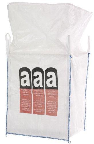 Big Bag Asbest 90x90x110 cm mit 4 Schlaufen, 1000 KG Bruchlast DIN EN ISO 21898