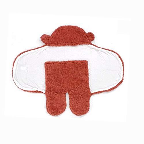 HS-LAMP Saco de Dormir Debe Recien Nacido, Saco Dormir Bebe Recien Nacido, Algodón Transpirable Suave y Cálido Ideal Saquito de Dormir para Recién Nacidos 0-6 Meses (Color : Red, Size : 90X78CM)