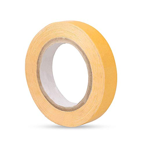 D-DIVINE Hair Wigs Tape, Hair Patch Tape, Hair Toupee Tape, Yellow Double Sided Tape For Hair Patch & Hair Toupee (1 Inch X 22 Meter)