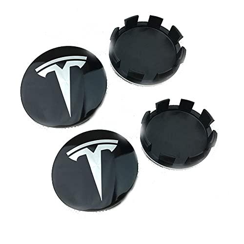 SXZG Tapas de Cubo de Cubierta Central de Rueda para Tesla Modelo 3 X S, Accesorios de Estilo de Coche, 58 MM 4 Piezas