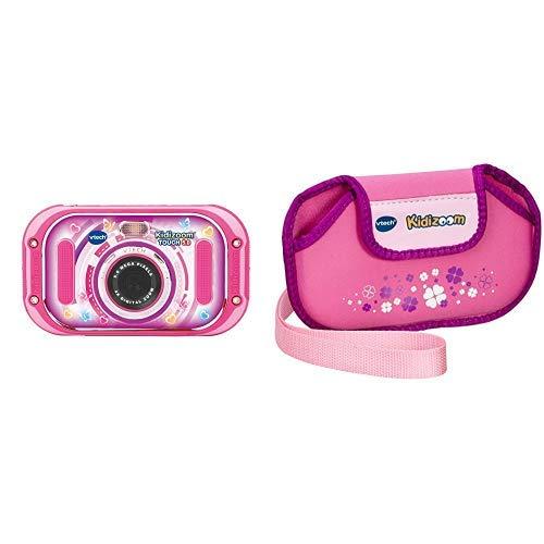 Vtech 80-163554 Kidizoom Touch 5.0 pink Kinderkamera Digitalkamera für Kinder Kinderdigitalkamera, Mehrfarbig &  80-211059 - Kidizoom Touch Tragetasche, pink