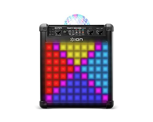 ION Audio Party Rocker Max - 100W Portable Wireless Bluetooth Speaker and Karaoke Centre with Rechargeable Battery, Party Light Display and Microphone