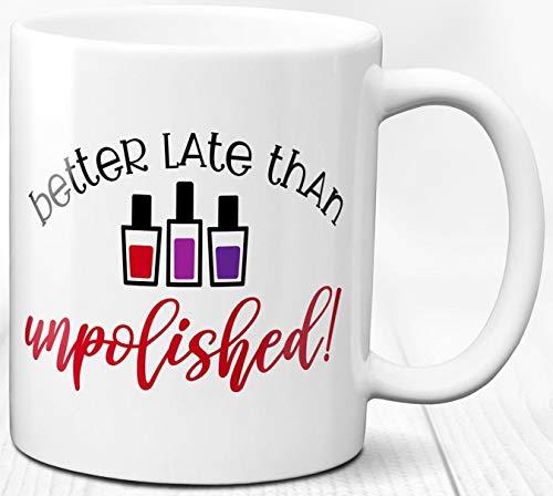 Mode Diva Kaffeebecher 330 ml Geschenk für ihre Maniküre Liebe Keramik Teetasse