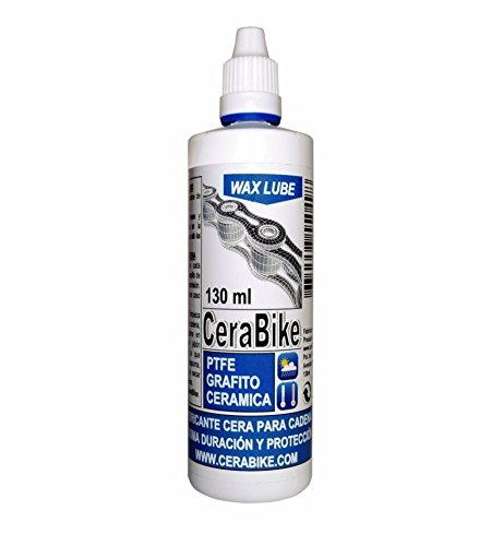 Cerabike Waxlube - Lubrificante per catenaLubrificante per catena a base di cera e ptfe, grafite e ceramica, 130 ml.-