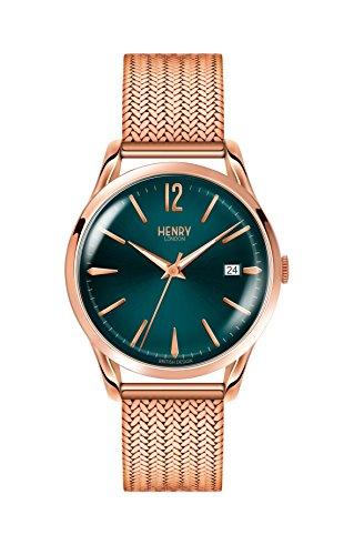 Henry London Orologio Analogico Quarzo Unisex con Cinturino in Acciaio Inox 5018479077718