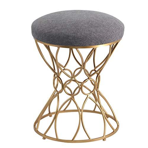 EBTOOLS Chaise /Él/égante Tabouret avec Dossier Tabouret de Maquillage Confortable Chaise pour Coiffeuse Chaise avec Dossier pour Chambre Salon