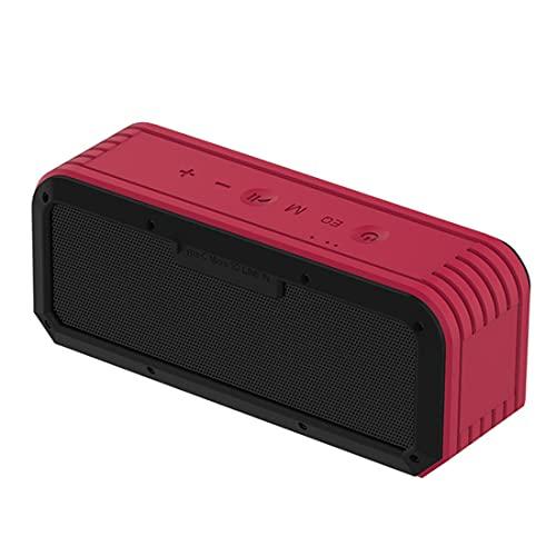 XJST Altavoces inalámbricos portátiles, altavoz Bluetooth de alta potencia de 40 W, volumen más alto, sonido estéreo transparente, graves ricos, para exteriores, camping, rojo