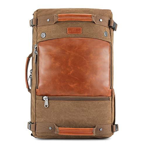 2 en 1 bolsa de ropa y Duffle Carry de gran tamaño en el bolso de hombro bolsa de viaje de fin de semana for hombre Mochila bolsa de asas noche a la mañana bolsa de mano equipaje Gimnasio Sport Crossb