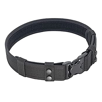 Dotacty Duty Belt for Law Enforcement Police Security Correctional Officer 2-Inch Utility Belt Nylon Web Work Belt Duty Gear Accessories  Black Large