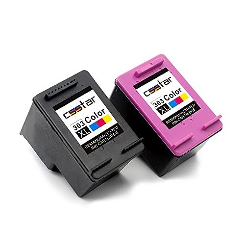 CSSTAR Remanufacturado Cartuchos Tinta Reemplazo para HP 303 XL 303XL para HP Tango X, HP Envy Photo 6230 6234 7134 7830 6220 7130 6232 Impresora, Negro y Color