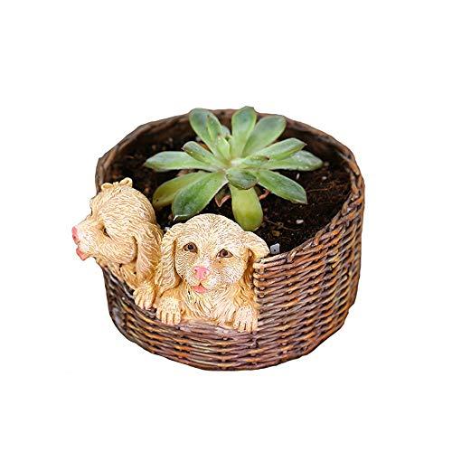 Vaso di fiori a forma di cane cartone animato creativo animale carnoso vaso di fiori balcone carne Pot decorazione moda artigianato ornamenti per camera da letto balcone soggiorno cucina ufficio