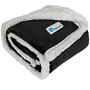 PetAmi Premium Plush Sherpa Pet Blanket Sized for Cats, Small Dogs, Puppies, Kittens – 30×40